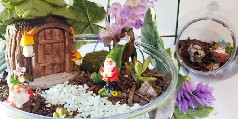 DIY Dollar Store Miniature Fairy Garden
