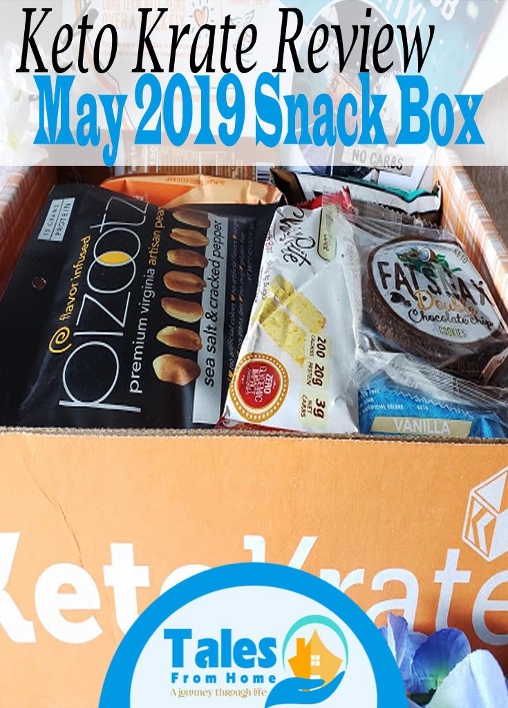 Keto Krate Review, May 2019 Snack Box #keto #ketogenic #ketosis #lchf #lowcarb #ketosnacks