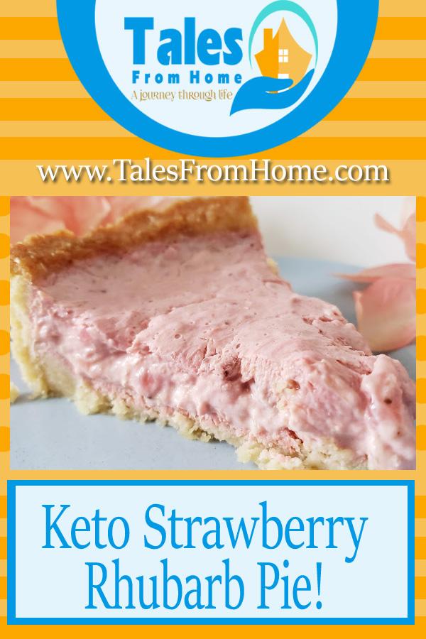 Keto Strawberry Rhubarb Pie, The perfect summer treat! #keto #ketogenic #ketolfe #ketolifestyle #ketogenicdet #lcHF #lowcarb #pie #ketorecipes