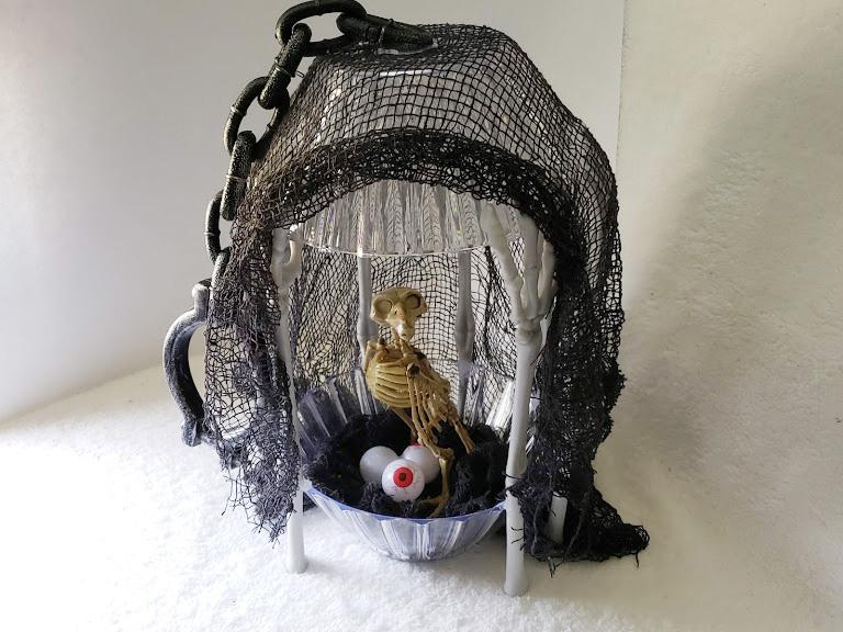 DIY Dollar Tree Halloween Spooky Birdcage!