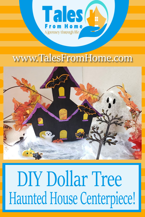 Creating a DIY Haunted house Centerpiece from the Dollar Tree #Halloween #halloweendecor #halloweendecoration #DIYHalloween #DIY #DIYCraft #crafting