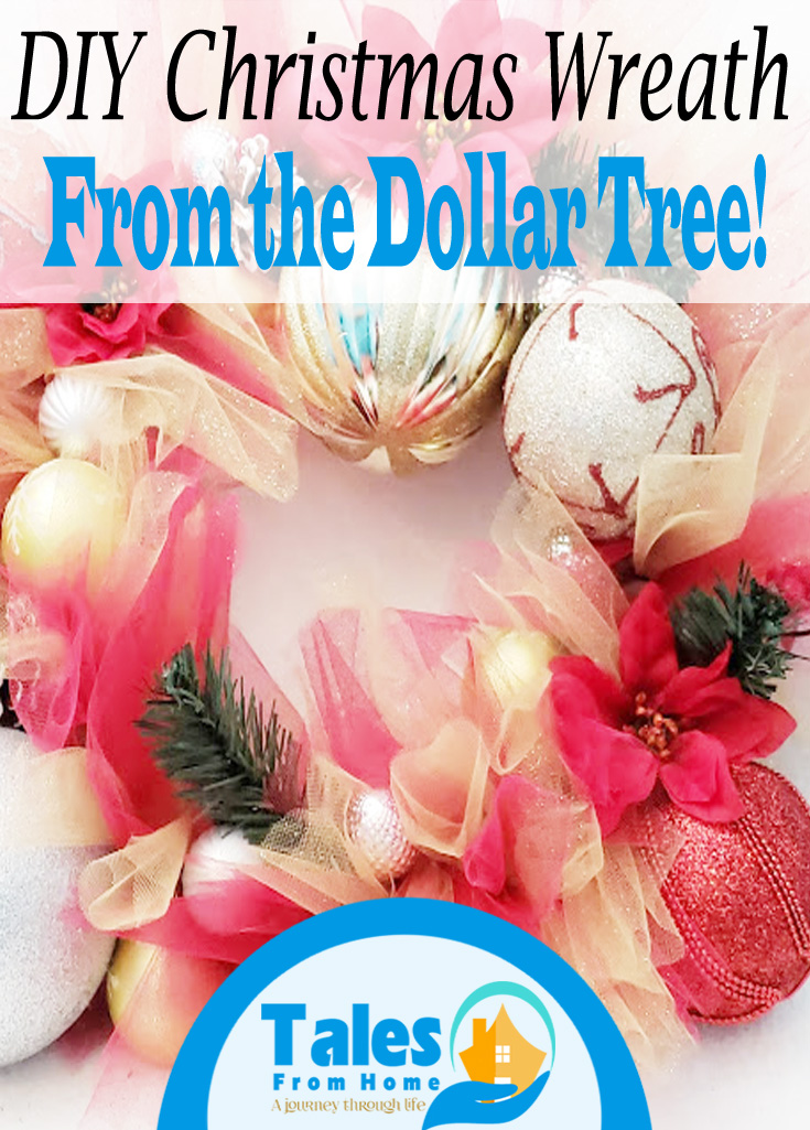 DIY Christmas Wreath From the Dollar Tree #DIY #Christmas #ChristmasWreath #DollarTree #dollarstore