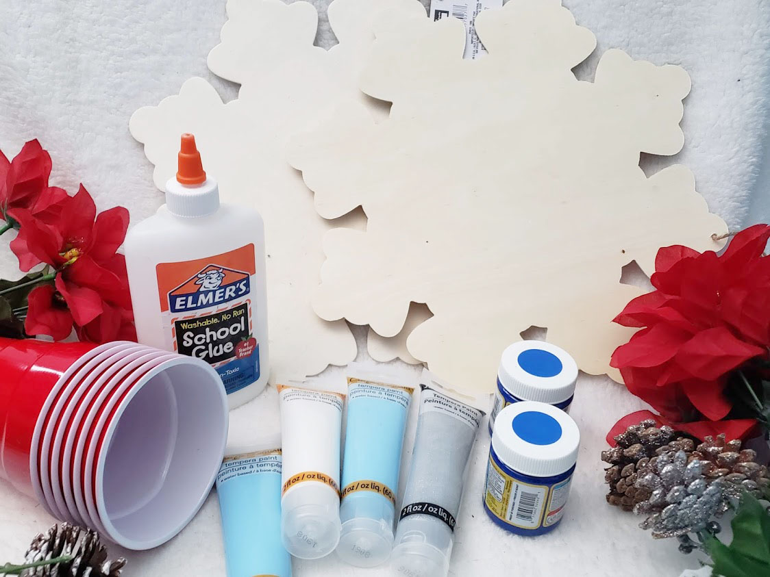 Dollar Store Pour Painting Supplies