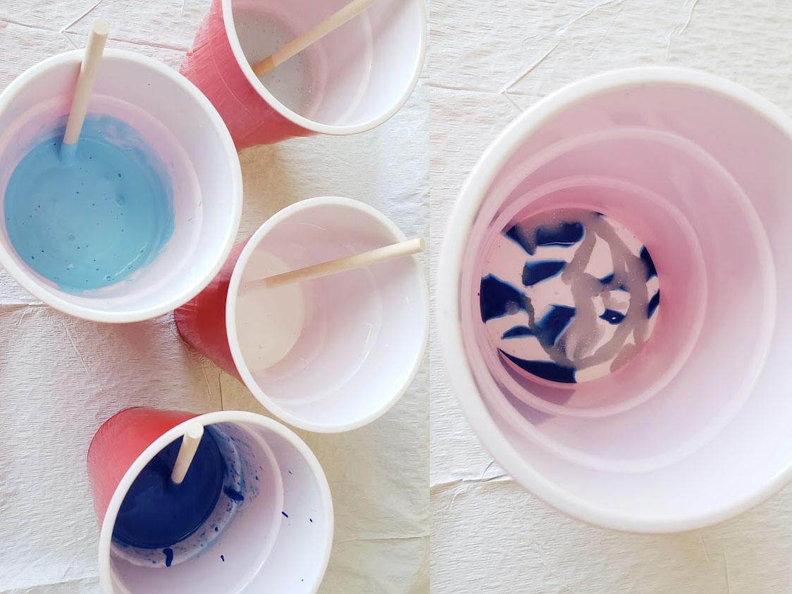 Dollar Store Pour painting paint preparation