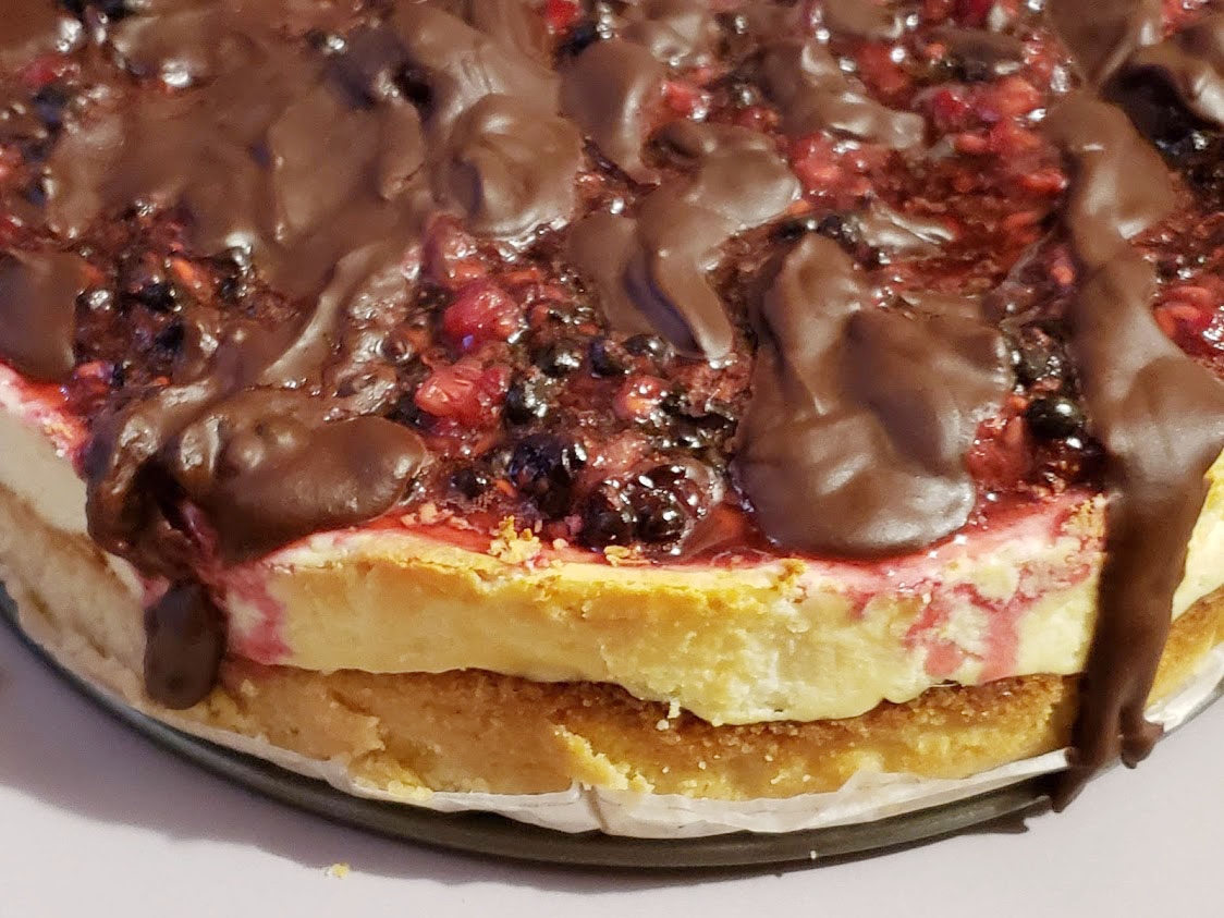 Keto White Chocolate flavored Cheesecake