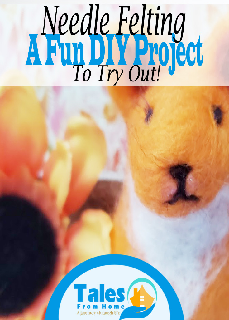 Giving Needle Felting a Try! A fun DIY project! #craft # artsandcrafts #DIY #crafting