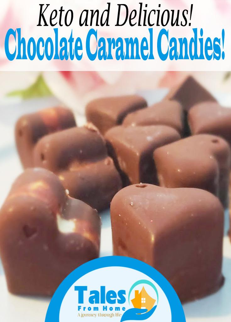 Keto Chocolate Caramel Candies! The perfect homemade sweet treat! #keto #ketotreats #ketocandy #ketorecipies #lchf #lowcarb #ketodiet