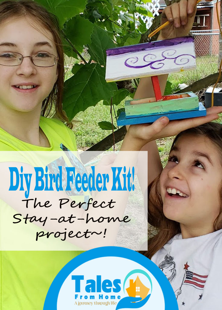 DIY Bird Feeder Kits! The perfect stay at home project to do with the kids! #stayathome #quarantine #DIY #Kids #Kidsactivities #kidscrafts #kidsprojects #DIYprojects #crafts #birdfeeders