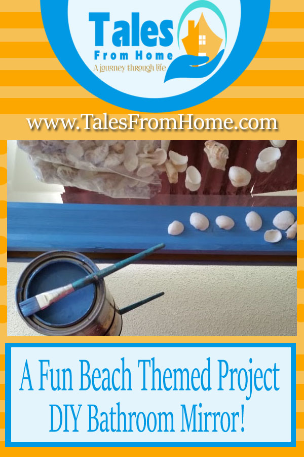 A fun and simple DIY project for those coastal and ocean themed rooms! #beachtheme #oceantheme #seatheme #coastaltheme #homedecor #coastaldecor #bathroommirror #diy #diymirror #diybathroom