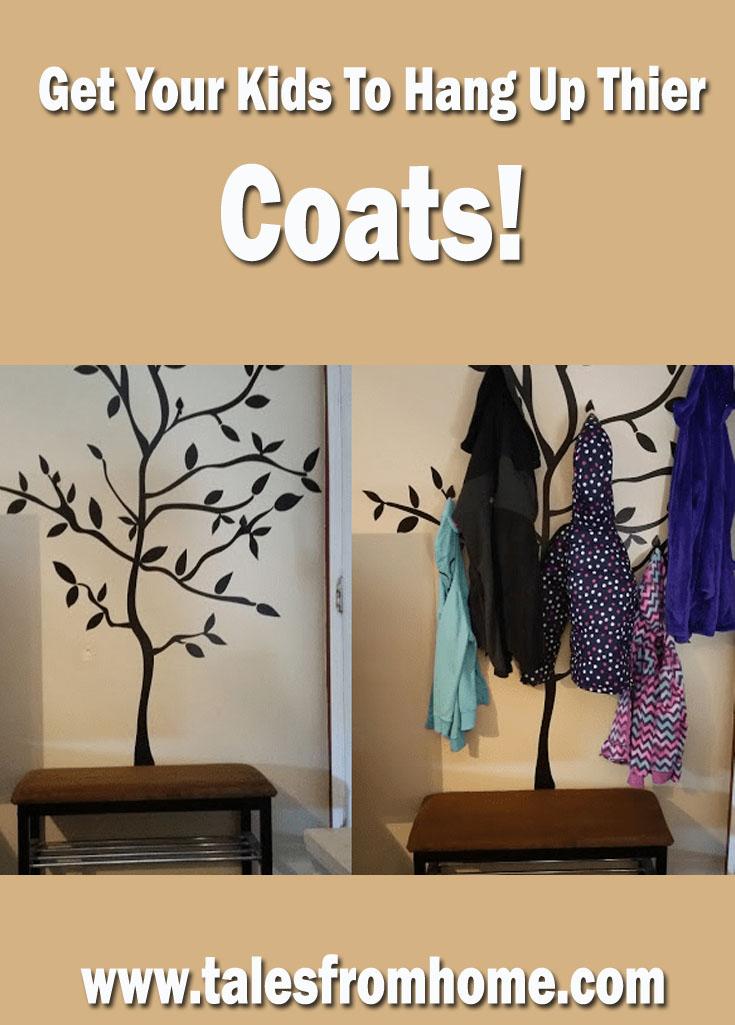 Get your kids to hang up their coats and have fun doing it with this easy DIY coat rack! #DIY #homeimprovement #homedecor #home #decor #kids #family