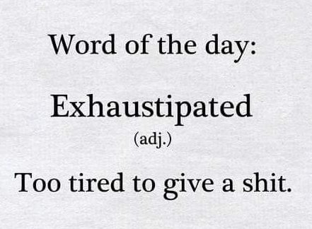 Word - exhausted