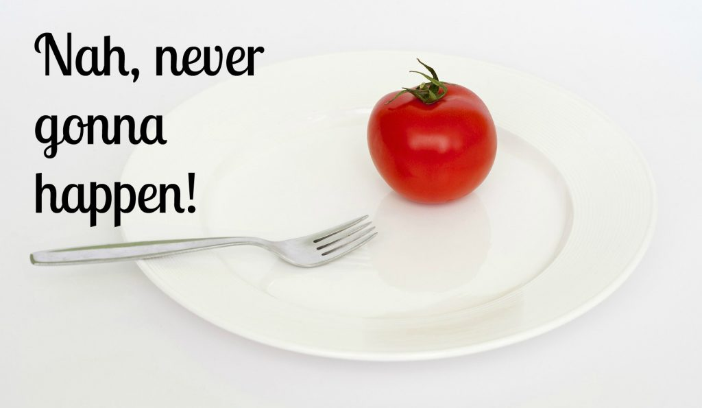 tomato on plate - diet