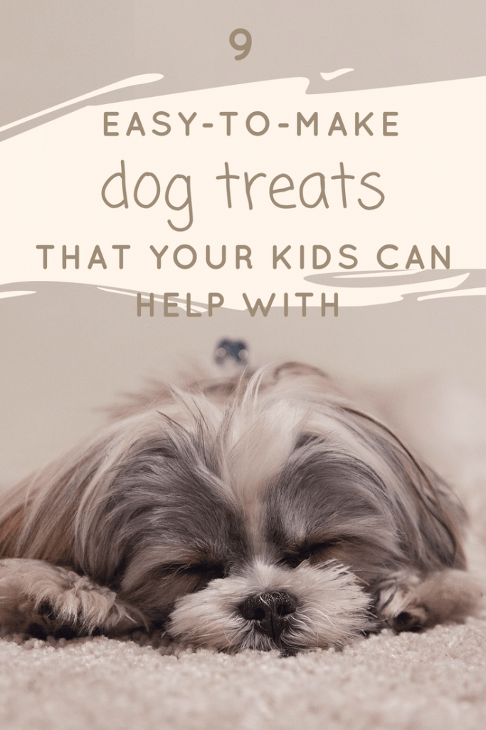 9 easy-to-make dog treats that your kids can help with