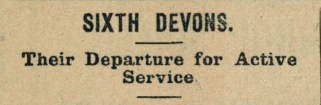27th January 1916 3f-g Sixth Devons