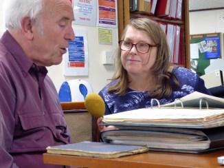 Peter Christie being interviewed for BBC Radio Devon