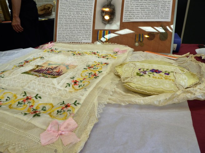Needlework created by a World War One Soldier wounded in the Battle of Arras (1917)