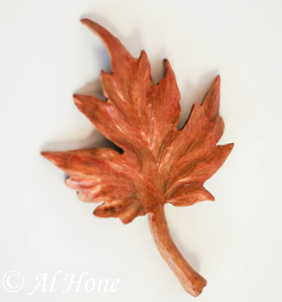 Artsy Fartsy Tuesday, carved wood leaves
