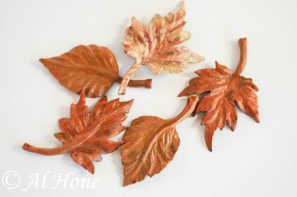 Artsy Fartsy Tuesday , carved wood leaves