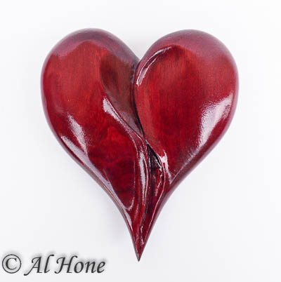 Carved wood heart, Artsy Fartsy Tuesday