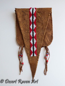 Native American beaded belt bag