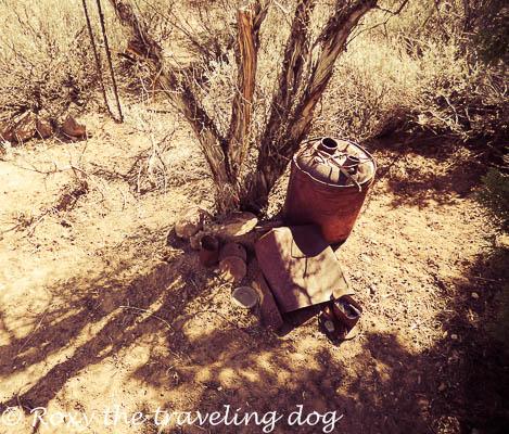 Yard art in the desert