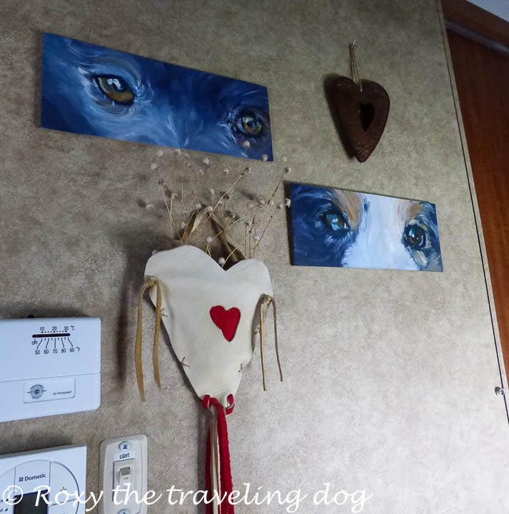 Paintings of the dogs eyes
