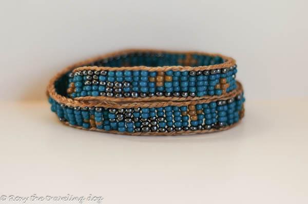 Roxy doggie necklace-beaded