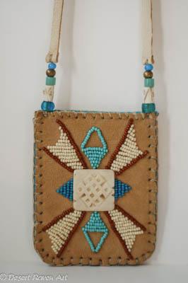 beadwork pouch, beadwork