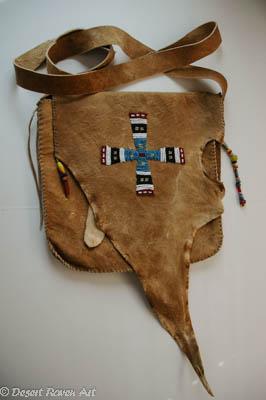 mountain man rendezvous,shooting bag,beadwork,primitive