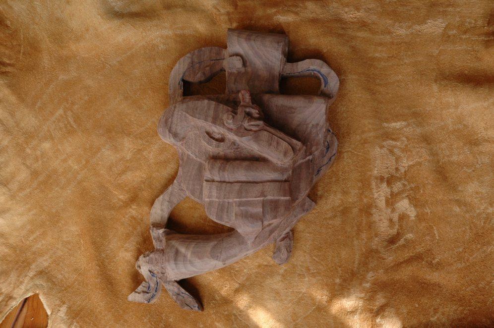 Black powder sculpture