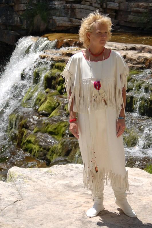 white buckskin wedding dress,mountain man