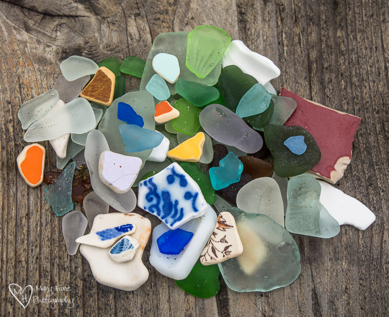 Sea glass haul