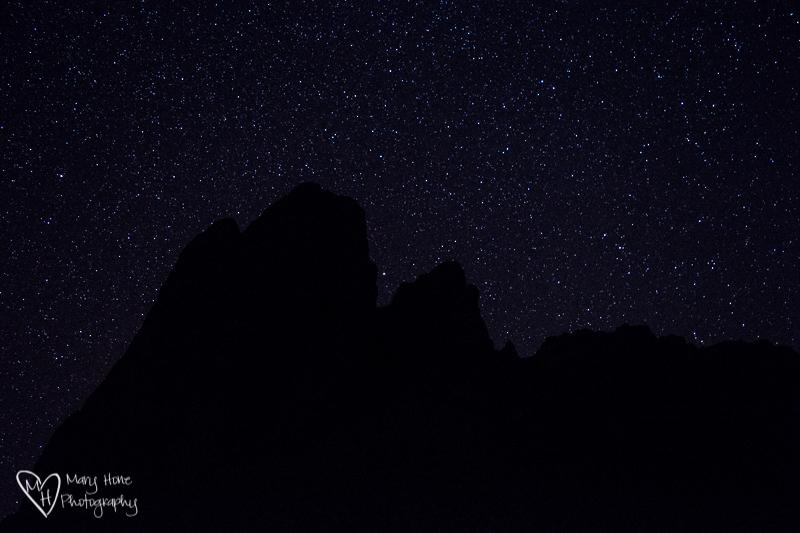 The beautiful night time sky