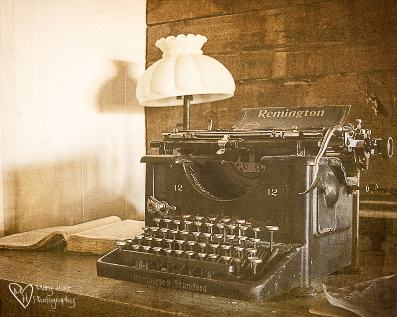 Time, the great equalizer. Old typewriter