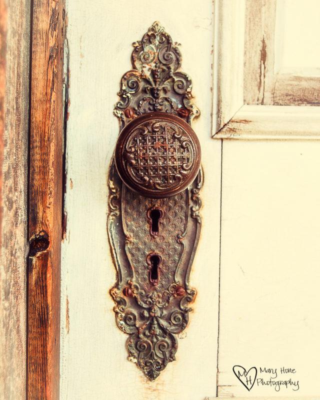 Old metal doorknob. Virginia City & Nevada City, Montana