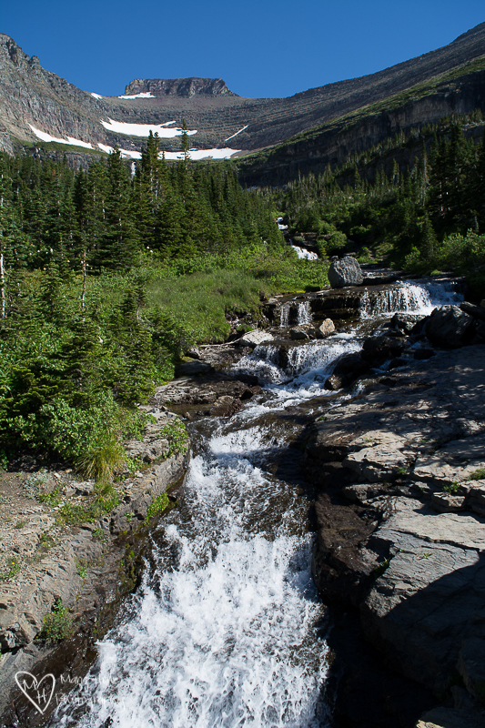 Waterfall in Glacier NP