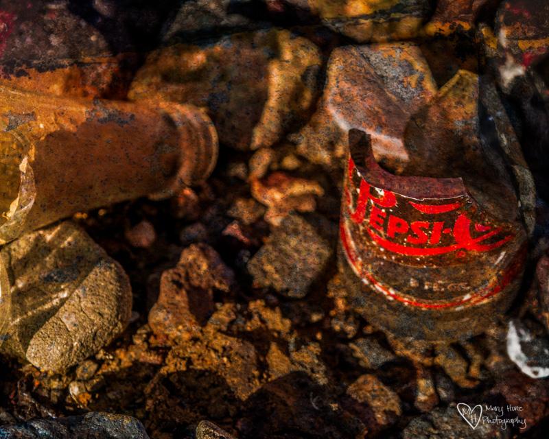 Desert Textures old bottle in the desert