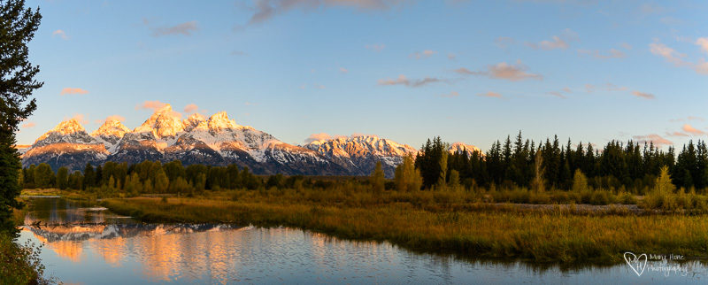 alpen glow on the tetons
