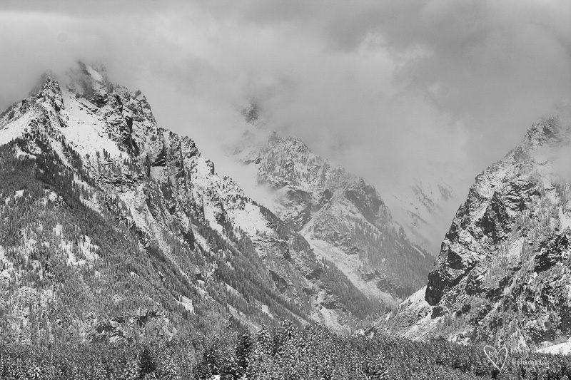 snowy teton canyon