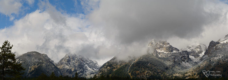 panorama of the tetons