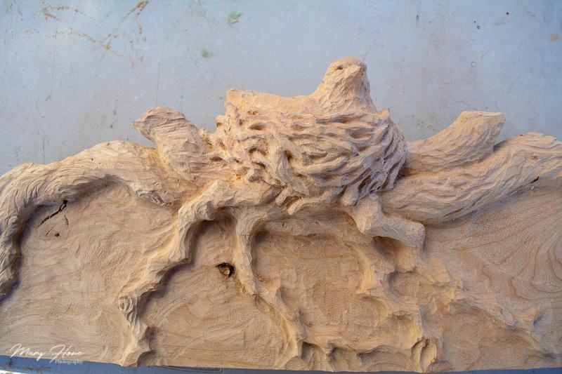 carved bird