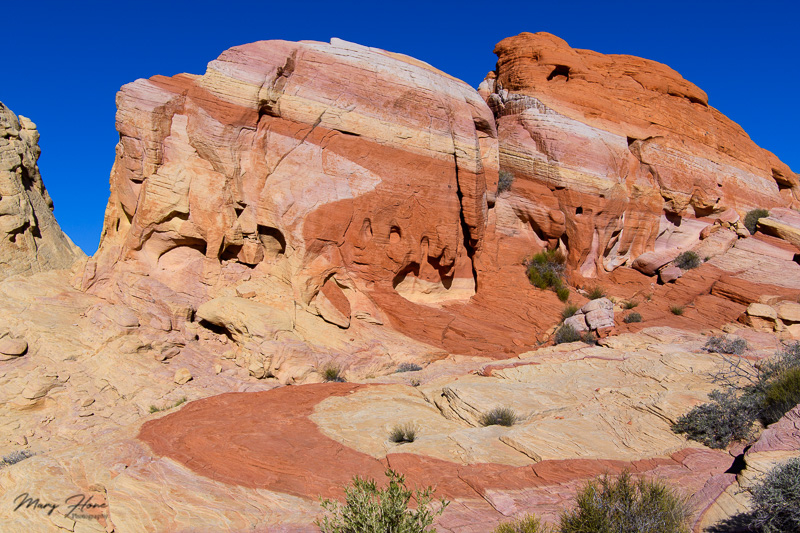 striped rock in valley of fire