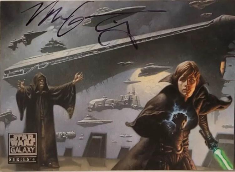 Card signed by Mark Zug TTM.