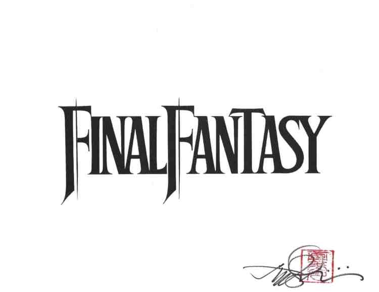 Final Fantasy print by Henry Cavill obtained TTM.