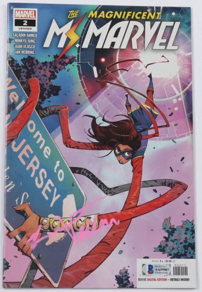 Ms. Marvel comic signed by Iman Vellani