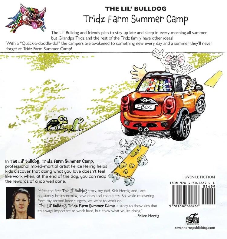 The Lil' Bulldog, Tridz Farm Summer Camp back cover