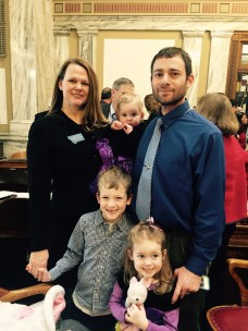 Rep. Kim Dudik (Missoula-D) and family