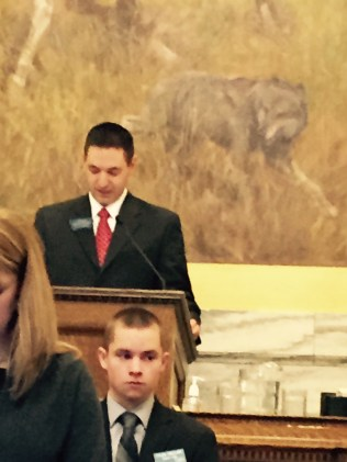Speaker Austin Knudsen and Charlie Russell's keeping a watchful eye on him.