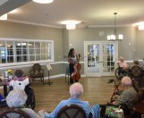 Chatting with the residents at Summit Place, Charleston