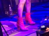 Pink sequin boots
